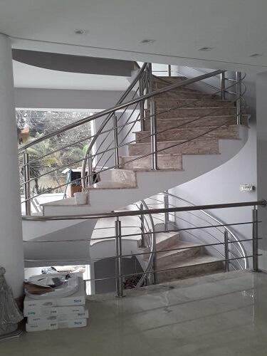 Corrimão Aço Inox Escada