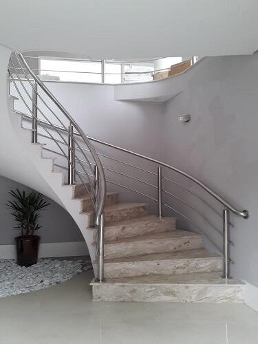 Corrimão Aço Inox para Escada
