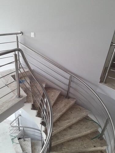 Corrimão de Aço Inox Escada
