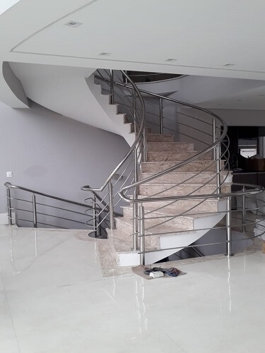 Corrimão em Aço Inox Escada